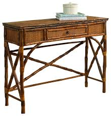 Rattan Console Table Brilliant Rattan Console Table And Console Table Antiqued