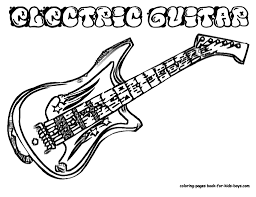 hard colouring electric guitar coloring pages book for boys bebo