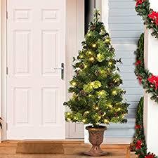 amazon com national tree 4 foot crestwood spruce entrance tree