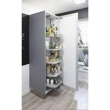 meuble rangement cuisine rangement ouvrant colonne 5 paniers pour colonne l 60 cm delinia