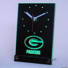 popular green packers buy cheap green packers lots from china tnc0505 green bay packers table desk 3d led clock china mainland