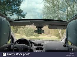 mpv car interior peugeot 5008 mpv van interior panoramic glass sunroof stock