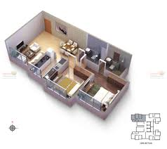 square foot house plan modern bhk isometric view floor rajesh