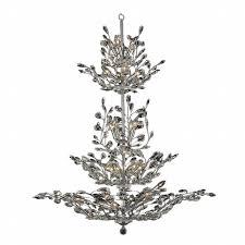 Tree Chandelier 26 Light Chrome Finish Crystal Tree Four Tier Chandelier