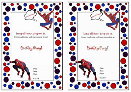 free printable invitations free printable spiderman invitations printable invitations