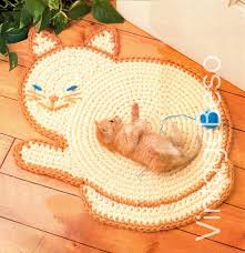 Crochet Home Decor Patterns by Instant Download Pdf Pattern Rug Crochet Pattern Cat Crochet