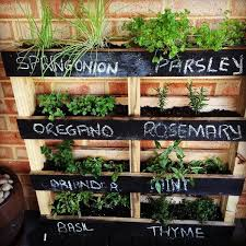 herb gardens dyi pallet vertical herb garden most of us live in narrow and