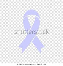 periwinkle ribbon awareness ribbon sign vector periwinkle icon stock vector