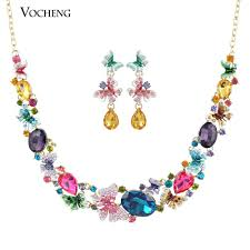 pearl crystal statement necklace images Luxury gorgeous colourful butterfly austrian crystal statement jpg