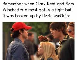 Meme Sam - remember when clark kent and sam winchester almost got in a fight