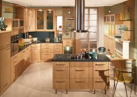 cuisine en bois clair ilot central cuisine bois cuisine en image