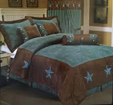 Designer Comforter Sets Turquoise Comforter Western Embroidered Texas Star Comforter