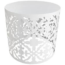 white outdoor side table decorative white patio side table 18 in at home at home