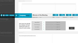 minutes of meeting project management template
