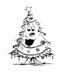 christmas trees coloring sheet print kids brandsomasz