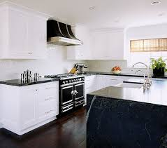 Transitional White Kitchen - black and white kitchens ideas photos inspirations