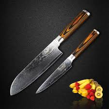 razor sharp kitchen knives sunnecko 2pcs kitchen santoku utility knife set japanese vg10