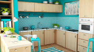 Red And Teal Kitchen by Modern Kitchen Design Red Glossy Cabinets Black White Pattern
