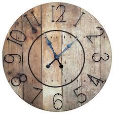 circular wood wall vip international wood slat clock with metal numbers