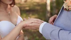 bjs wedding rings gold wedding rings groom puts in pocket stock footage
