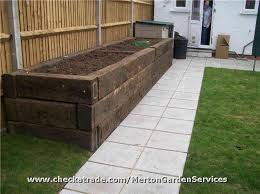 Raised Garden Bed On Concrete Patio Image Result For Raised Garden Beds How Many Sleepers High