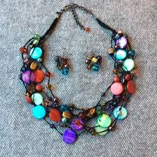 colored beaded necklace images Premier designs jewelry multi color bead necklace earrings jpg