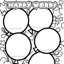 happy words coloring page imom