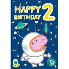 peppa pig birthday happy 2nd birthday peppa pig birthday card 222029 character brands