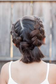 step by step braid short hair 5 braids for short hair cute girls hairstyles