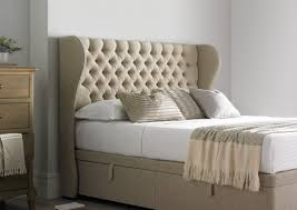 Naples Bedroom Furniture by Highgate Mulberry Winged Floor Standing Headboard Double