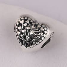 pandora diy bracelet images 925 sterling silver bead flourishing hearts charm fit original jpg