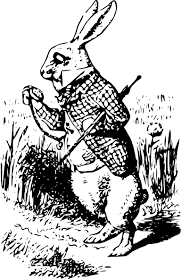 alice wonderland white rabbit clip art clker