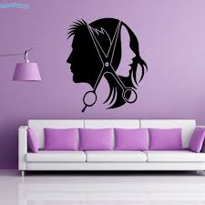 popular hair beauty salon wallpaper buy cheap hair beauty salon zooyoo barbershop hairdressing wall stickers home decor beauty salon hair cutting vinyl wall decals removable wallpapers