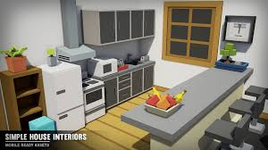 simple house interiors by synty studios in environments ue4