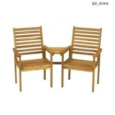 Outdoor Jack And Jill Chair by Outdoor Garden Furniture Patio Set Wooden Table 2 Chairs Jack And