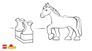 lego duplo horse colouring coloring lego duplo