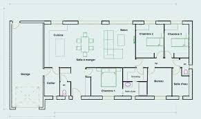 plan 4 chambres plain pied plan maison plein pied plan de maison plain pied 3 chambres