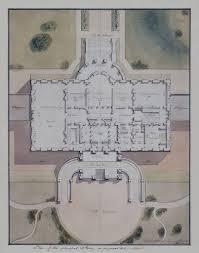 white house plan site plan by benjamin latrobe 1807