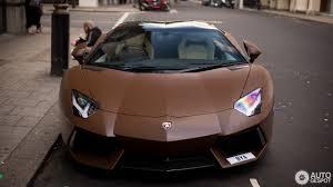 Lamborghini Aventador Acceleration - chocolate colored lamborghini aventador roadster is low on cocoa