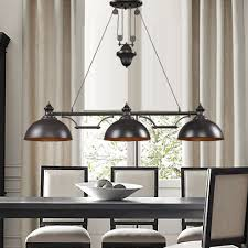 Dining Table Pendant Light Lighting American Vintage Antique Copper Matrix 3 Pendant Light