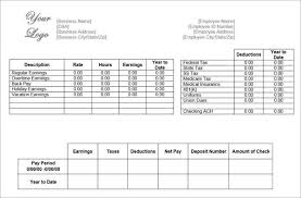 pay stub format download a free pay stub template for microsoft