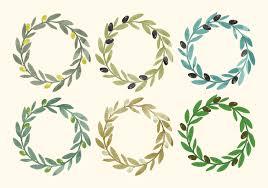 martini olive vector watercolor olive wreath free vector art 2480 free downloads