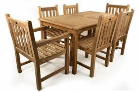 Patio Table 6 Chairs Teak Outdoor Chairs