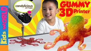 gummy factory world s 3d gummy candy printer magic candy factory