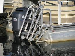 pontoon boat ladders for rear mounting aqua stairs