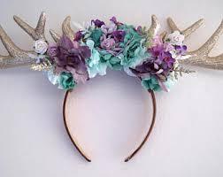 deer headband deer antler headband etsy