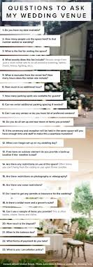 help me plan my wedding 23 questions to ask my wedding venue by allyson vinzant events