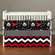 Mickey Mouse Crib Bedding Sets Mickey Mouse Theme Crib Bedding Nursery Decor 3 Set Bumper