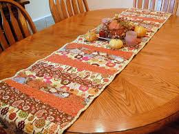 fall table runners quilted leaves table runner brown colors cotton