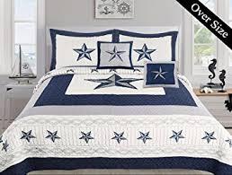 Cowboys Bedroom Set by Amazon Com Dallas Cowboys Blue Star Comforter Set 5 Piece Set
